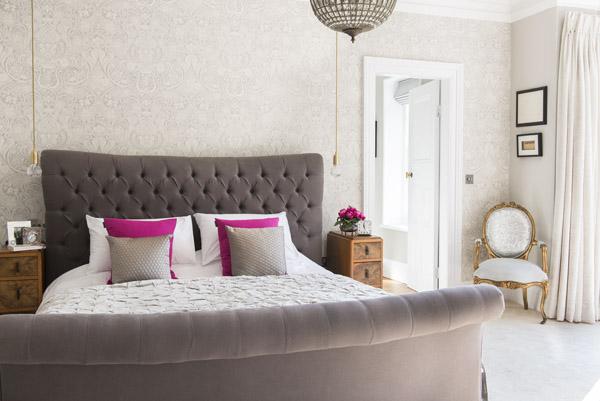 Restful master bedroom, Yorkshire