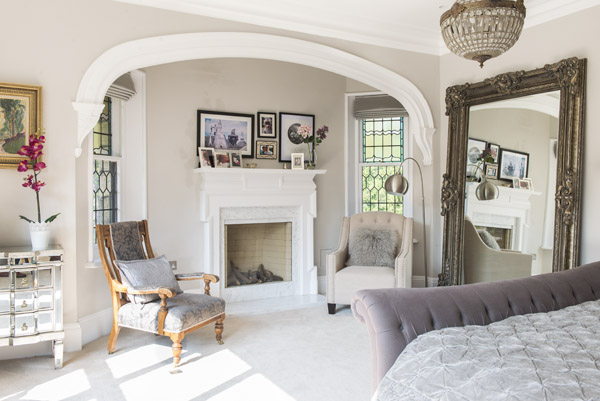 A space where you can sit for a few moments after a busy day is a great addition to a bedroom
