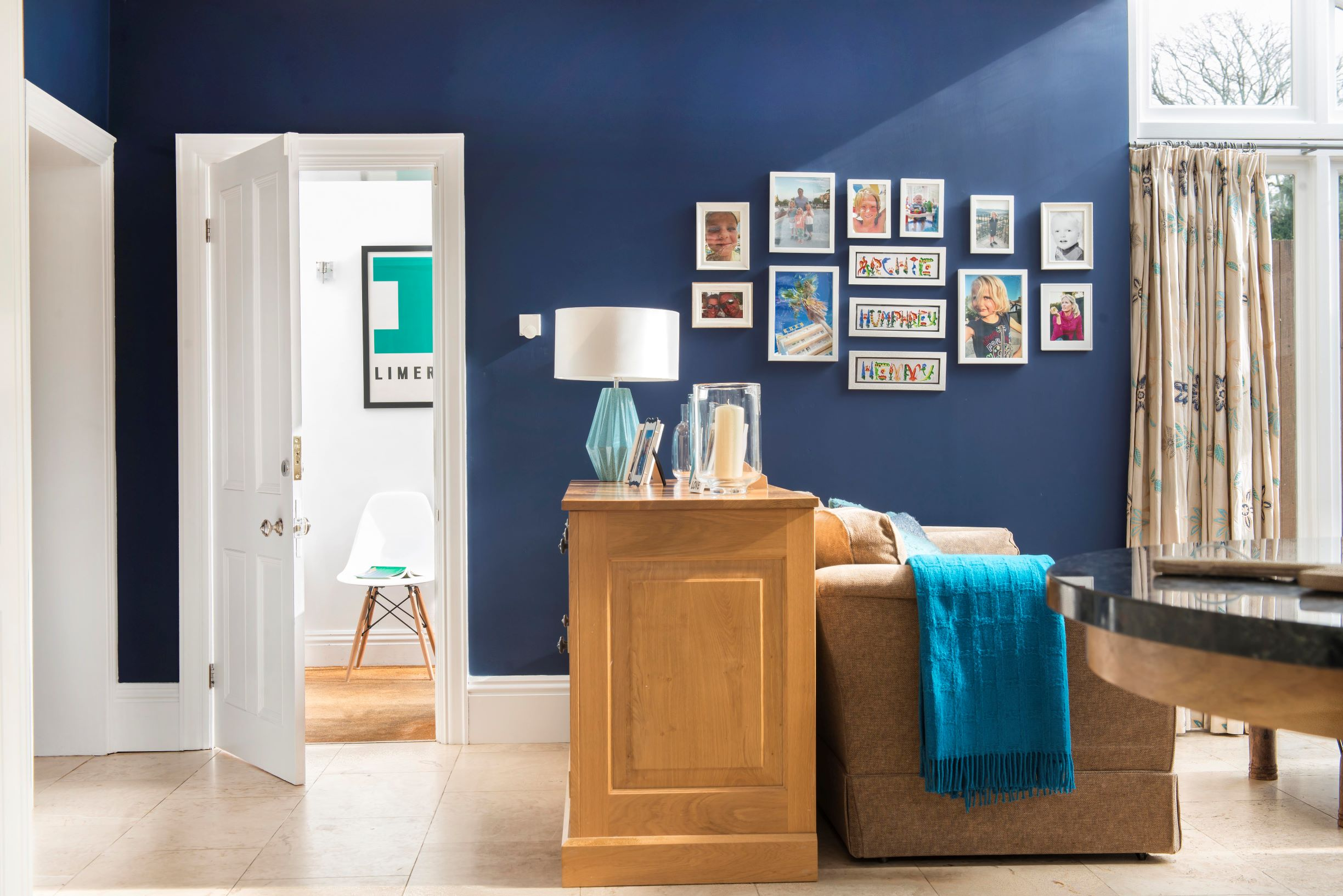 Moody blues and gallery walls